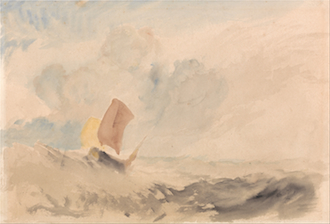 A Sea Piece - A Rough Sea with a Fishing Boat