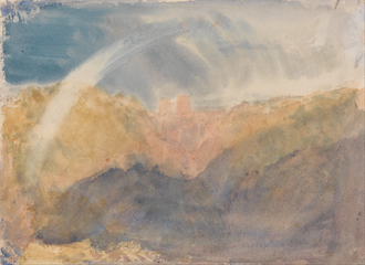 Crichton Castle (Mountainous Landscape with a Rainbow)