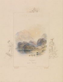 Design for an Illustration for Walter Scott's Lady of the Lake, Loch Achray]