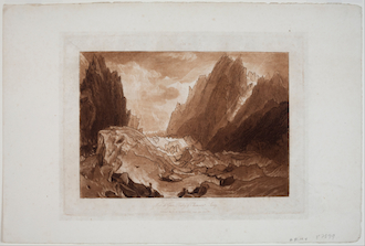 Mer de Glace - Valley of Chamonix - Savoy, from the_Liber Studiorum