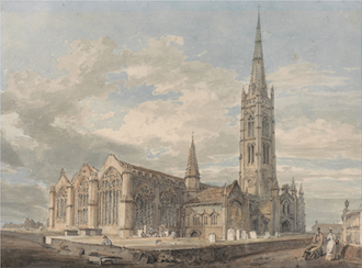 North East View of Grantham Church, Lincolnshire