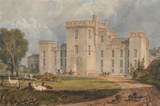 View of Hampton Court, Hertefordshire, from the Northwest