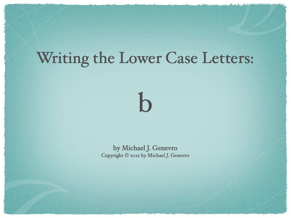 Handwriting Practice: b
