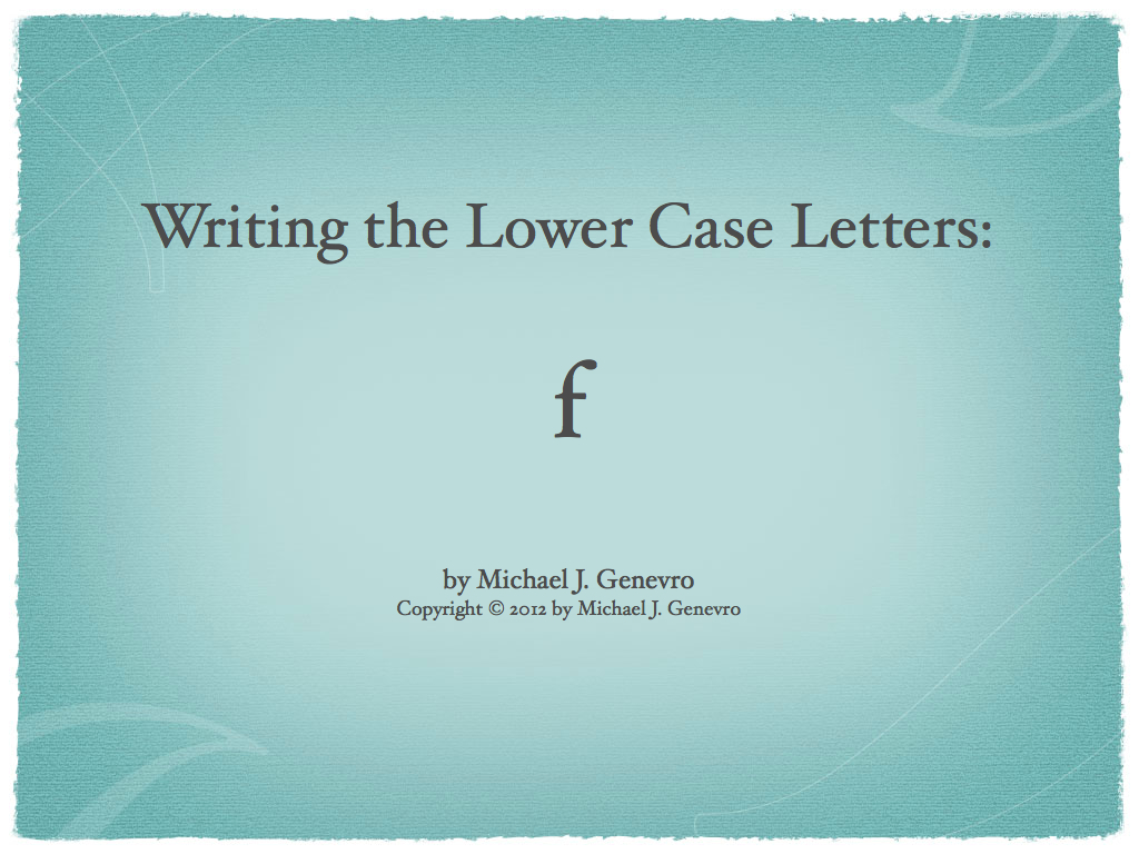 Handwriting Practice: f