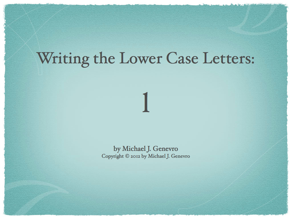 Handwriting Practice: l