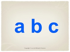 Practice Saying Names of Letters: abc