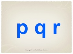 Practice Saying Names of Letters: pqr