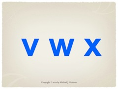 Practice Saying Names of Letters: vwx